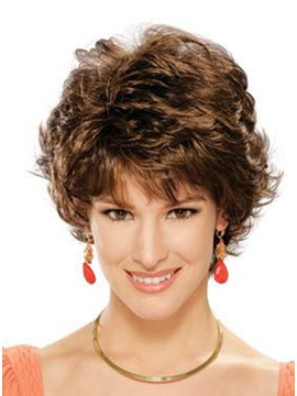 Short Curly Synthetic Hair Wig Like Adrian Style Wig 9 Inches
