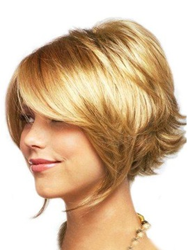 Short Straight Synthetic Hair Wig About 8 Inches