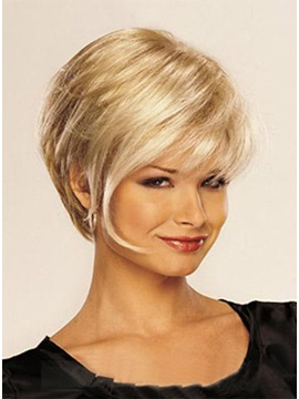High Quality Elegant Short Straight Synthetic Hair Wig 10 Inches