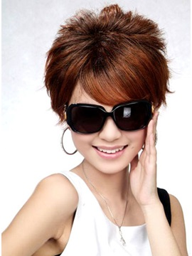 Lovely Short Straight Synthetic Hair Wig 6 Inches