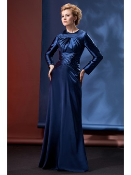 Modest And Dignified Column Floor Length Alinas Mother Evening Dress
