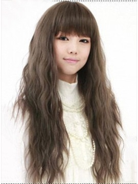 Cute Full Head Long Wavy Synthetic Wig About 22 Inches