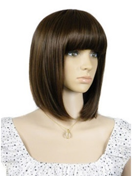 Sexy Medium Straight Synthetic Hair Wig 12 Inches
