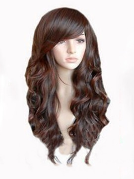 New High Quality Natural Long Wavy Synthetic Wig About 20 Inches