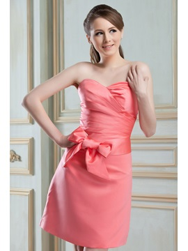 Enchanting Sashes Ribbons A Line Sweetheart Neckline Short Mini Nadyas Bridesmaids Dress