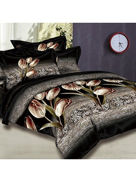 Dance Of Tulips 4 Piece 100 Cotton Bedding Sets