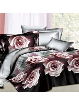 Lingering Charm Of Roses 4 Piece 100 Cotton Bedding Sets