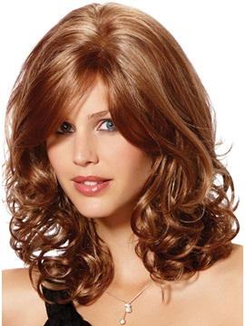 Sexy Medium Curly High Quality Synthetic Hair Wig 14inches