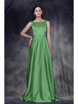 Designer A Line Floor Length Jewel Neckline Anderaes Bridesmaid Dress