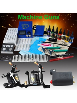 Excellent Tattoo Kits With 3 New Tattoo Machines And Lcd Power 7 Color Ink