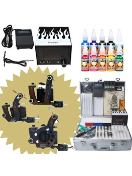 Best Selling Tattoo Kit With 3 Micky Sharpz Machines Gun Power Supply And 10 Inks Set