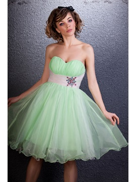 Cute Sweetheart Empire Waistline Beading Short Darias Homecoming Sweet 16 Dress