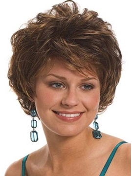 Graceful Short Curly Capless Synthetic Hair Wig 6inches
