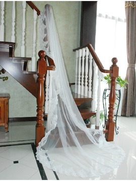Fabulous Tidebuy Cathedral Length White Tulle Wedding Veil