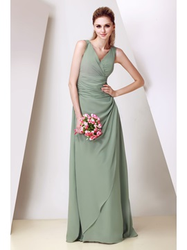Elegant Floor Length V Neck Dashas Prom Dress