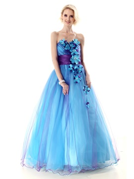 Glamorous Sweetheart Flowers A Line Nastyes Long Quinceanera Dress