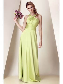 Charming A Line Ruched Straps Floor Length Dashas Bridesmaid Dress