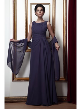 Attractive Jewel Sheath Floor Length Ruffling Talines Mother Of The Bride Dress