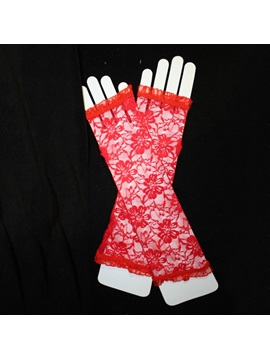 Fingerless Long Transparent Wedding Bridal Gloves