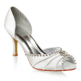 Newest 2012 Upper Stiletto Heels Closed Toes Wedding Bridal Shoes