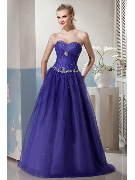 Charming Sweetheart Appliques Beading Lace Up Floor Length Yanas Ball Gown Prom Dress