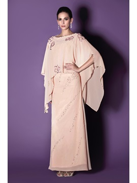 Fabulous Beaded Column Sheath Floor Length Scoop Talines Mother Of The Bride Dress With Jacket Shawl
