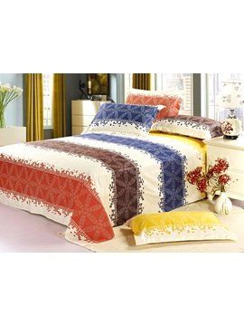 Brilliant Colorful Wide Stripe Cotton Sheet