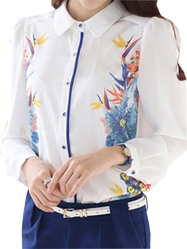 Stylish Floral Printed Slim Shirt