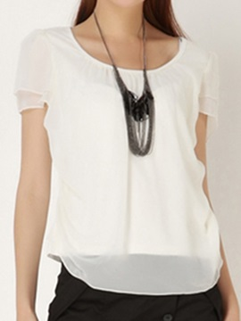 Double-Layer Short Sleeves Short Blouse