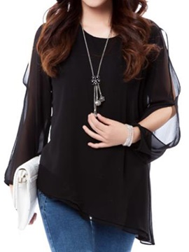 Stylish Hollow Sleeves Loose Blouse