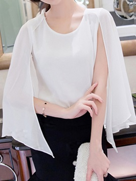 Special Sleeves Chiffon Blouse