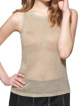 Special Knitting Fabric Slim Tank Top