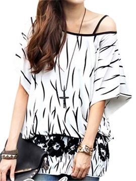 Sexy off-Shoulder Collar T-Shirt