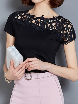Stylish Asymmetrical Sleeves Slim T-Shirt
