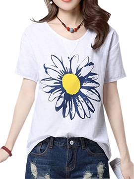 Cute Pattern Slim T-Shirt