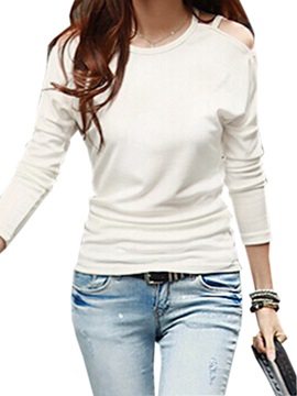 Stylish off-Shoulder Slim T-Shirt