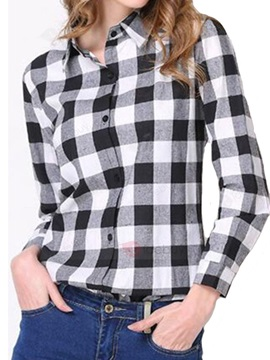 England Style Plaid Slim Shirt