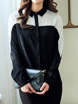 Double-Color Roll-up Sleeves Shirt