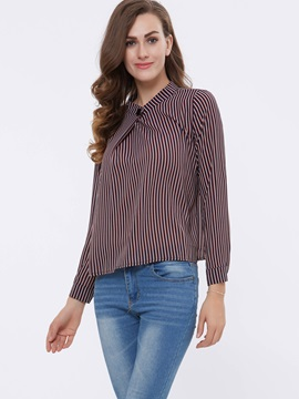 Stylish Stripe Neck Designed Shirt