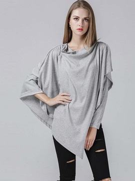 Stylish Batwing Sleeve Mid-Length T-Shirt
