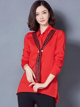 Stylish Solid Color Straight Blouse