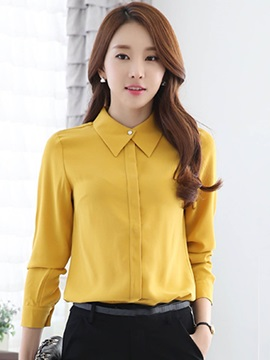 Stylish Solid Color Sweet Shirt