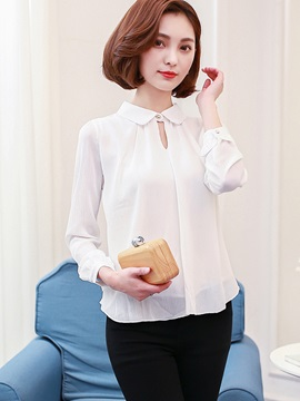 Chic Peter Pan Collar Chiffon Blouse