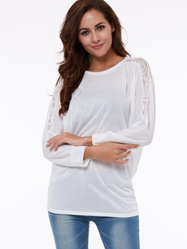 Female Lace Bat Sleeves T-Shirt