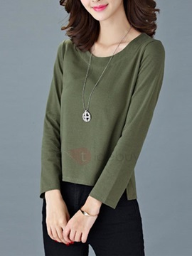 Casual Multi Color Long Sleeve T-Shirt