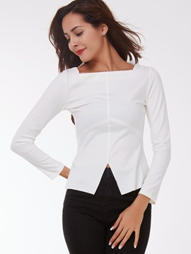 Stylish Square Neck Slim T-Shirt