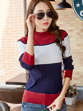 Stylish Color Block Pullover T-Shirt
