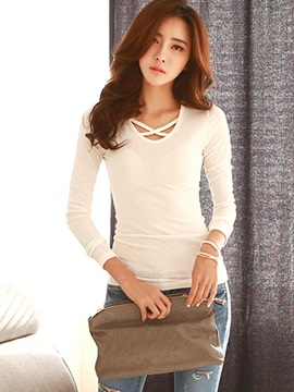 Stylish Solid Color Standard T-Shirt