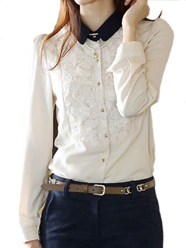 Boutique Leisure Slim Long Sleeve Chiffon Shirt