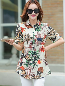 Stylish Printed Mid-Length Shirt